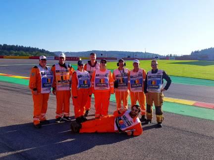 Team 23 at post 18 Spa f1